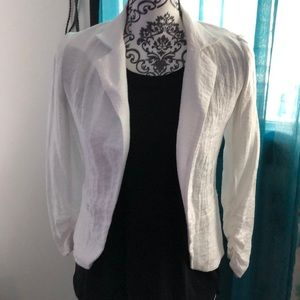 """Linen White """"Wrinkled"""" Jacket"""